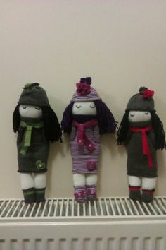 Little sock dolls that I made, love them x