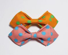 Pink Polka Dot Kids Bow Tie.  This stunning pink bowtie with beautiful blue polka dots is the epitome of modern-day fashion and it will go a long way in injecting zest into anything you dress them up in. bowselectie.com