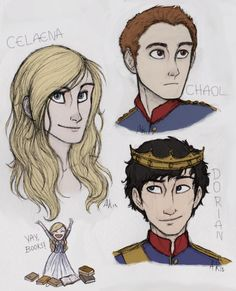 Throne of glass.   art from http://assassinandthecaptain.tumblr.com/post/51567775153/drawings-of-the-characters-from-throne-of-glass