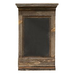 Framed by a wide border of carved, reclaimed wood, this chalkboard can be used indoors or out. Its unusually large size easily lends itself to large p Reclaimed Wood Projects, Barnwood Ideas, Chalkboard Paint, Chalkboard Ideas, Pallet Creations, Girl House, Wood Pallets, Barn Wood, Home Projects