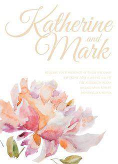 Watercolor invite