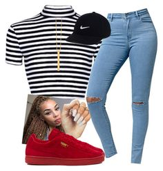 """Baby I would go insane for your love , f what your friends say girl that's gotta mean somethingg"" by xposed-nothings on Polyvore featuring Bullhead Denim Co., Puma, Gorjana and NIKE"