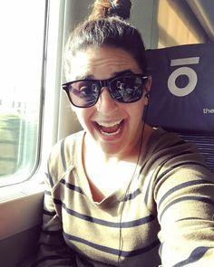 "My ""I just made it into France"" face  #coasthopping #traintraveler #backpacker #Europe #frenchriviera #nice #nizza #france #travel #adventure #explore"