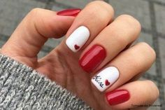 day nails short nailart The Meaning Of Valentines Day Nail Art E. day nails short nailart The Meaning Of Valentines Day Nail Art Easy Heart Designs 4 Gorgeous Nails, Pretty Nails, Love Nails, Cute Red Nails, How To Do Nails, Red Nail Art, Blue Nail, Valentine Nail Art, Valentine Nail Designs