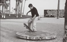 I am wondering how many bruises he got trying to master the trick. (Gif)