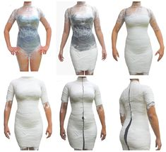 How to Make your Body Form with Liquid Foam? In this article we will show you in simple 8 steps how to use liquid foam and create new body patterns with it.Step 1 and 2 collage - exportOhhhhhhhhhhhh good tips on how to get the plaster bandages off th Mannequin Diy, Clothes Mannequin, Dress Form Mannequin, Vintage Mannequin, Diy Clothing, Sewing Clothes, Fashion Sewing, Diy Fashion, Duct Tape Dress