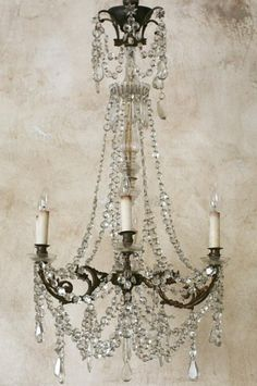 I want this chandelier. No scratch that - I NEED this chandelier! Decor, Renovation Design, Neutral Interiors, Lighting, Crystal Chandelier, Lights, French Decor, Home Decor, Beautiful Chandelier