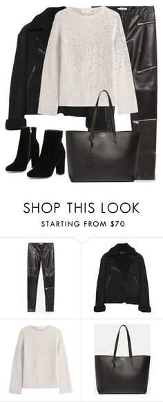 """""""Untitled #2990"""" by elenaday on Polyvore featuring Zara, rag & bone, Helmut Lang and Yves Saint Laurent"""