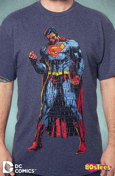 Typographic Superman Shirt: Superman Mens T-Shirt