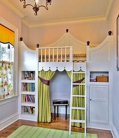 loft bed with play area below...this would be so much fun to build for V.