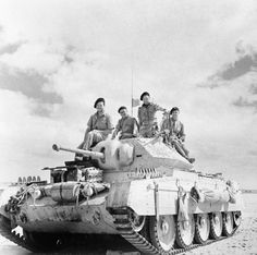 A Crusader tank (christened 'Vidi') of the Light Armoured Brigade in the Western Desert, 20 September Crew L-R: Louis Léonard; All were members of the Free French Flying Column No. Crusader Tank, Afrika Corps, Tank Warfare, North African Campaign, Military Armor, Ww2 Photos, Armored Fighting Vehicle, Military Pictures, British Army