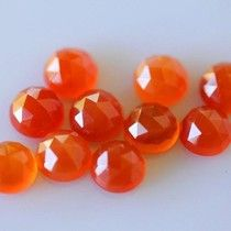 CARNELIAN ROUND ROSE CUT 2.25 CTS (1 PCS LOT) NATURAL 8X8 MM ROSE CUT