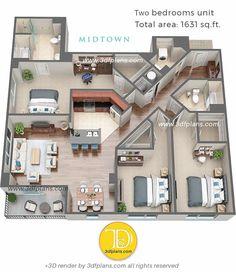 Modern House Floor Plans, Sims House Plans, House Layout Plans, Small House Plans, House Layouts, Studio Floor Plans, House Floor Design, Sims House Design, Duplex House Design