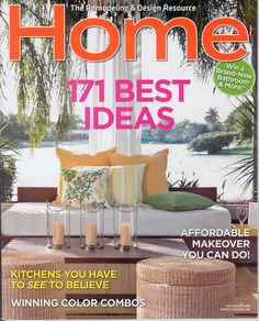 My patio on the cover of Home Magazine