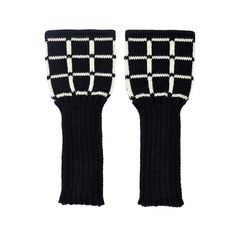 Back to Memphis | MARGOT & ME | Long Fingerless Gloves Lucy | Armwarmers in Fair Isle Technique | black and white grid pattern