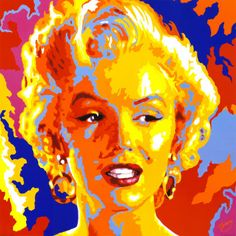 Pop Art Marilyn Monroe, Artwork Prints, Framed Art Prints, Tableau Pop Art, Art Graphique, Art Plastique, Graphic Art, Fine Art, Andy Warhol