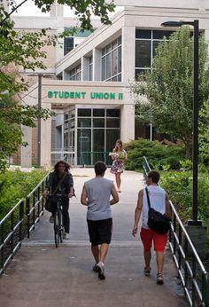 The Hub (previously SUB II). Photo courtesy of Creative Services, George Mason University