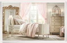 soft pink and cream girls room