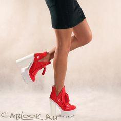 Красные ботильоны женские JEFFREY CAMPBELL O-quinn red купить в магазине CabLOOK.ru