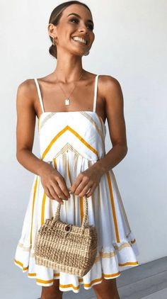 Summer Spaghetti Strap Ruffle Vacation Mini Dress – jollyluva casual a line dress cute prom dresses dress layering cute homecoming dresses a line mini dress gowns Outfit Ideas For Teen Girls, Spring Summer Fashion, Spring Outfits, Mode Shoes, Simple Dresses, Mini Dresses, Elegant Dresses, Pretty Dresses, Sexy Dresses