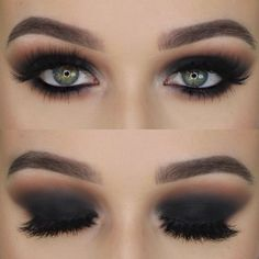 Best Inspiration Mate Makeup : Haven't done a black smokey eye in forever —— Anastasia Beverlyhills Brow Wiz Chocolate Bar Palette Marc Jacobs Beauty About Last Night Palette Anastasia B Black Brows, Black Eye Makeup, Black Makeup Looks, Makeup Eyes, Lip Palette, Eyeshadow Palette, Smokey Eye Palette, Smoky Eye, Eye Makeup Tutorials