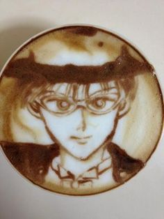 Awesome latte art! #SailorMoon