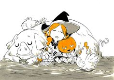 Inktober day 23 : Muddy Cute Halloween Drawings, Halloween Painting, Halloween Art, Halloween Illustration, Illustration Sketches, Art Sketches, Character Design References, Character Art, Witch Drawing