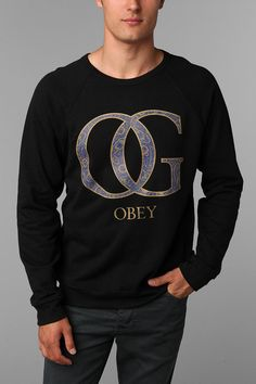 OBEY Paisley OG Crew Sweatshirt. I wanna boy who wears this.