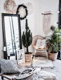 Bedroom Decor, Bedroom Inspo, Home Bedroom, Bedroom Mirrors, Bedroom Ideas, Master Bedroom, Boho Room, Bohemian House, Trautes Heim