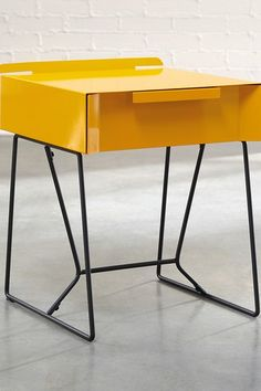 Yellow Saffron/Black End Table by Sauder on @HauteLook