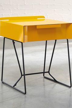 Yellow Saffron/Black End Table by Sauder on @HauteLook