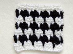 Crochet Punto Fantasia en Blanco y Negro # 1 - YouTube
