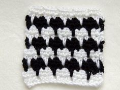 ▶ Crochet Punto Fantasia en Blanco y Negro # 1 - YouTube