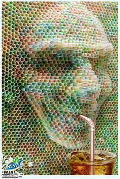 This is made from straws....