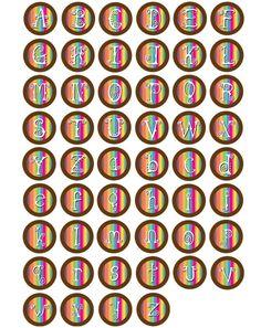 Tie Dye Alphabet Bottle Cap Images at Bottle Cap Co