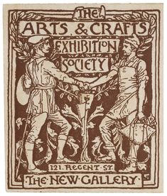 Detail from a season ticket for The Arts & Crafts Exhibition Society, by Walter Crane, England, UK, 1890 - Victoria and Albert Museum