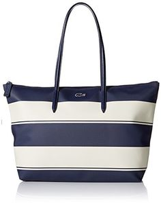 Lacoste Women's L.12.12 Concept Bold Stripe Horizontal Tote Shoulder Bag