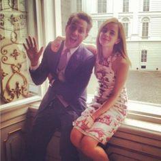 Emma with Derek Blasberg in Vienna for Caroline Sieber's wedding - july 13, 2013