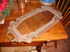 12in x 24in AN EARLY AMERICAN COLONIAL PERIOD HAND CARVED SOLID WALNUT WOOD $247.50 Mar 13, 2015