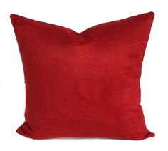 Red pillow covers, Red pillows, Christmas pillow, Holiday decor, Throw pillow, Shams, Toss pillows, 16x16, 18x18, 20x20, 22x22, 24x24, 26x26 by PillowCorner on Etsy