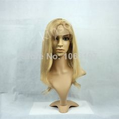 New Fashion Celebrity Hairstyle Long Loose Wavy Lace Wig 100% Human Hair about 16 Inches 27# $134.00
