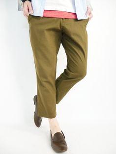 Amazon.co.jp: (モノマート) MONO-MART 綿麻 テーパード クロップド アンクル スプリング チノパン デザイナーズ 春 カラー メンズ: 服&ファッション小物通販