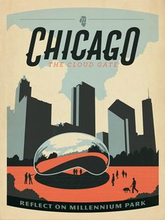 Chicago Millenium Park poster - Anderson Design Group