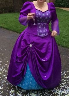 My purple wedding dress, Corset and skirt, made by me!