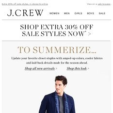 Switch it up for summer (plus, extra off sale) Love You Mom, Off Sale, J Crew, Amazing, Summer, Summer Time, I Love You Mom