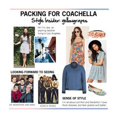 """""""Meet Our Coachella #PVStyleInsider, Yellowgrapes"""" by polyvore ❤ liked on Polyvore featuring Forever 21, Motel, Alchemy Equipment and Betsey Johnson"""