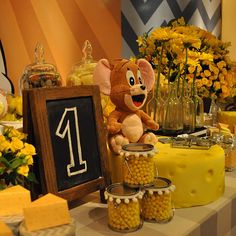 Tom y Jerry - Dale Detalles Tom E Jerry, Ideas Para Fiestas, Day Plan, Party Themes, Party Ideas, Birthday Parties, Birthday Ideas, Table Decorations, Kids