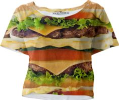 Burger Me! Sleeved Crop Top - Available Here: http://printallover.me/products/0000000p-burger-me-12
