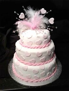 Mehrstöckige Hochzeitstorten kuchen braut rosa