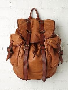 Free People Fontana Leather Backpack